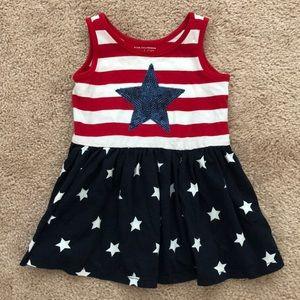 Children's Place Red White Blue Stars Girls Dress